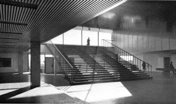Toivo Korhonen, sociological college in Tampere, 1961 (source: Bauen + Wohnen = Construction + habitation = Building + home, 16, 1962)