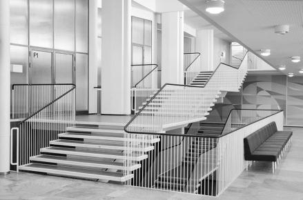 Aarne Ervi, Porthania Building, University of Helsinki, 1953 (source: Dembski, 2015)