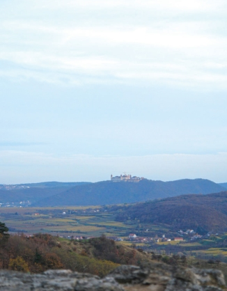 the monestary of Göttweig seen from the Dürnstein ruin