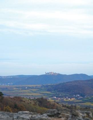 the monestary of Göttweig seen from the Dürnstein ruin